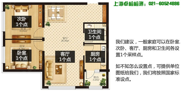 上海室内环境质量检测中心,上海卓检检测技术有限公司-测甲醛,上海室内空气检测和甲醛检测,检测热线:021-60524886